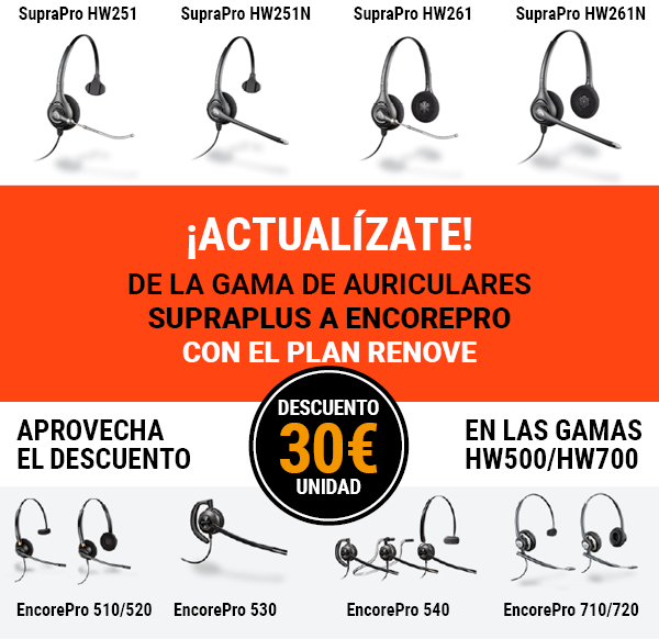 Plan renove Plantronics EncorePro