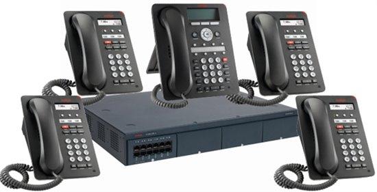 Imagen de Avaya centralita IP Office 500 V2 con 5 teléfonos y 4 líneas analógicas