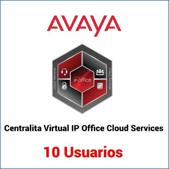 Servicio de centralita virtual basado en Avaya IP Office para 10 usuarios