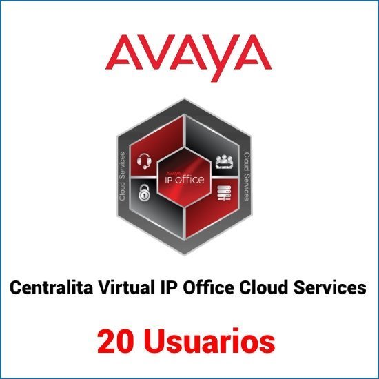 Servicio de centralita virtual basado en Avaya IP Office para 20 usuarios